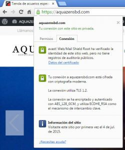 Aquazen certificado ssl