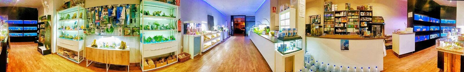 Panoramica tienda acuarios AQUAZEN