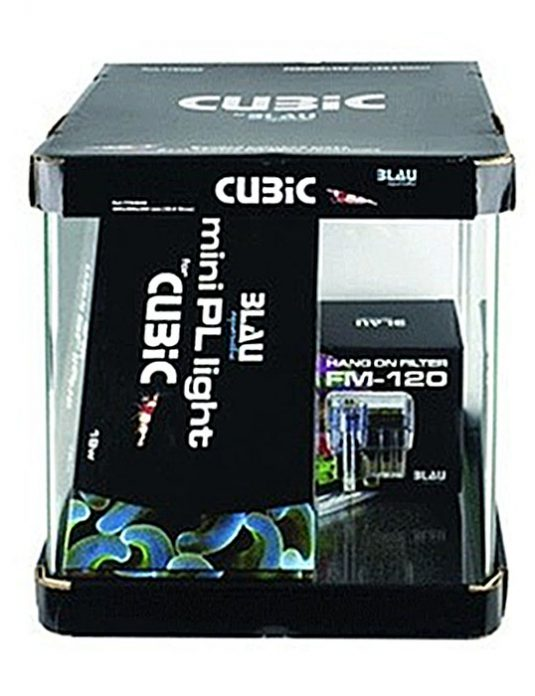 Kit acuario Cubic Blau cubo